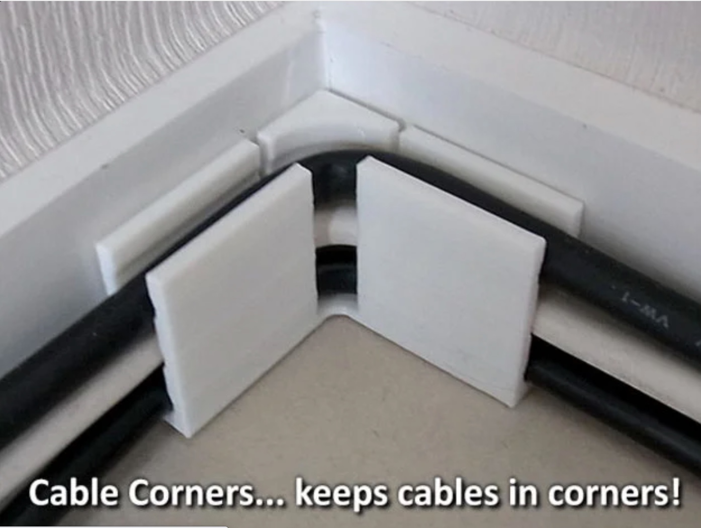 jig for keeping cable in corners